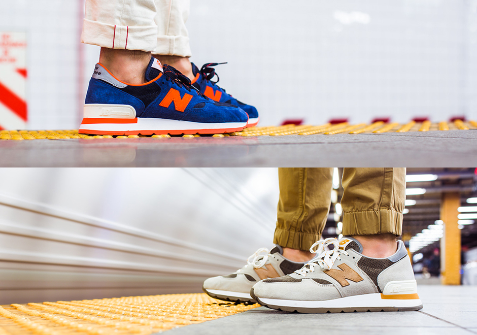 2015 New Balance 990 Blue Orange For Mens Sneakers