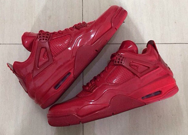 the air jordan 11lab4 in red patent leather