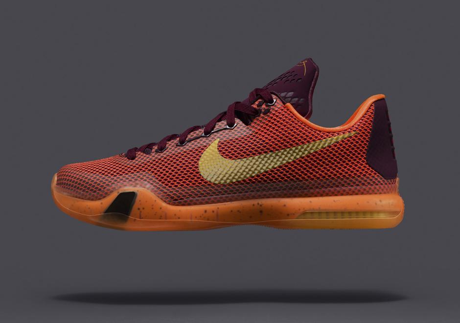 The Cheapest Nike Kobe 10 Merlot Metallic Gold Villain Orange