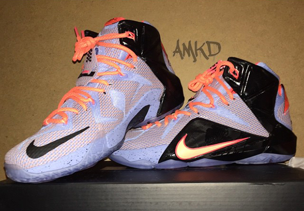 competitive price cf5c1 cec74 Nike LeBron 12. Color  Aluminum Sunset Glow-Hot Lava-Black Style Code   684593-488. Release Date  April 2th, 2015. Price   180