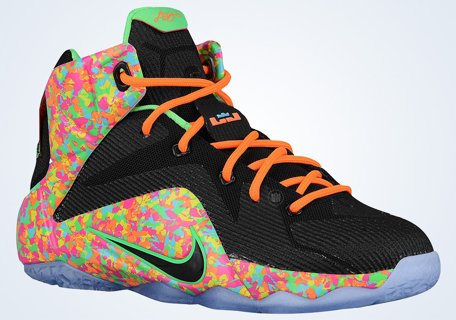 7cdf8819a17b Nike Uses Fruity Pebbles Cereal As Inspiration For Upcoming LeBron 12  Release For Kids