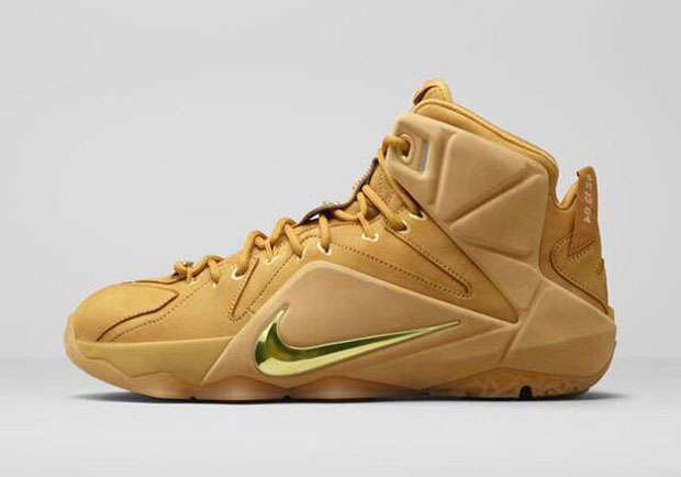 """Nike LeBron 12 EXT """"Wheat"""" Color: Wheat/Wheat-Metallic Gold Style Code:  Release Date: 03/06/15. Price: $250"""