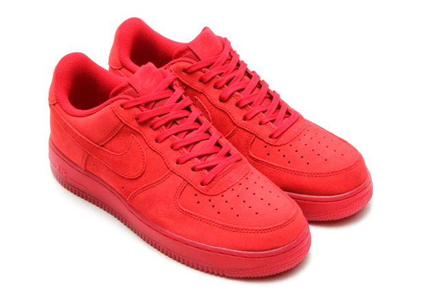 all red nike air force 1