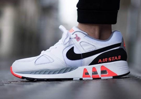 Nike Air Stab – White – Black – Hot Lava