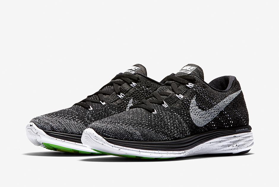 comprar barato SAST Nike Flyknit Lunares Negro 3 / Medianoche Niebla / Lobo Gris / Blanco Baños 2014 unisex alta calidad barata eastbay en venta comprar barato excelente F6Eniyi