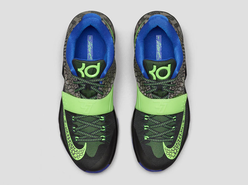 a216fe340e01 Color Metallic PewterFlash Lime-Anthracite- nike-kd-7-electric-eel-nikestore-release-info-  ...