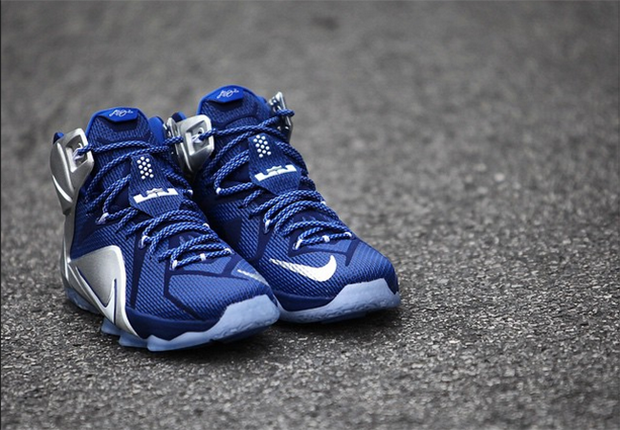 """Nike LeBron 12 """"What If """" Color  Deep Royal Blue White-Metallic Silver-Lyon  Blue Style Code  684593-410. Release Date  03 14 15. Price   200 70545f482"""