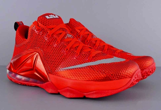 a333a3559f01 Nike LeBron 12 Low - University Red - Reflect Silver - Gym Red ...