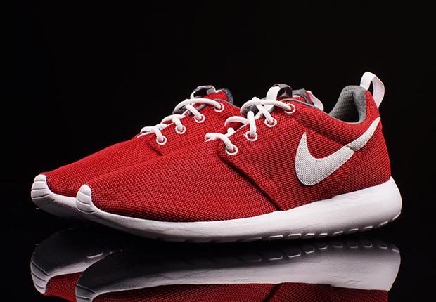 tani oficjalny sklep za pół Nike Roshe Run GS - Gym Red - White - Dark Grey ...