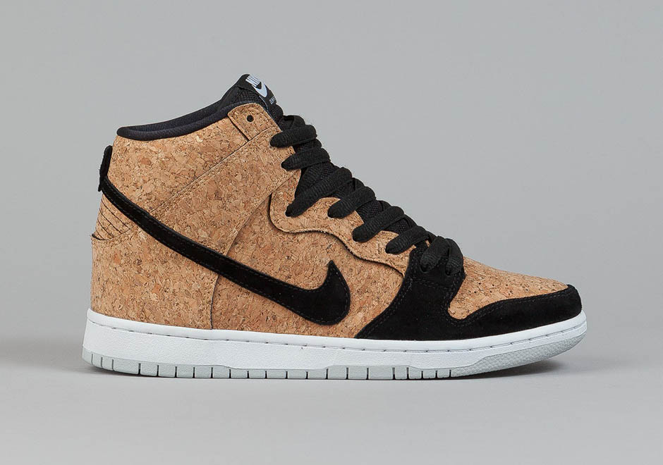 Cork Materials Appear on the Nike SB Dunk High - SneakerNews.com