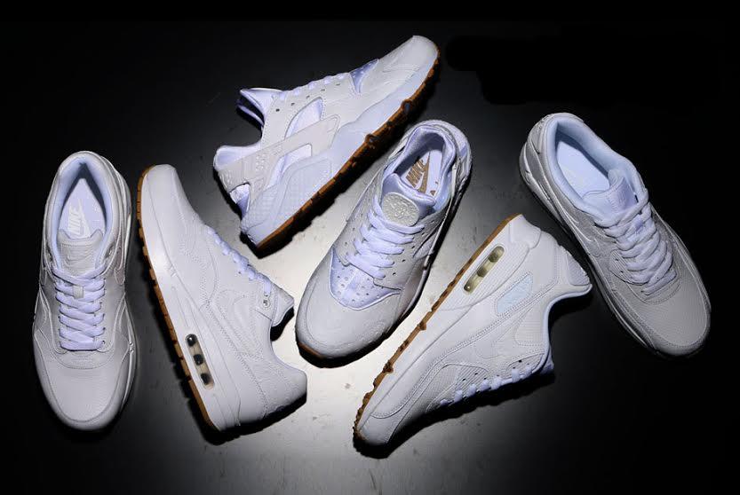 nike air max huarache all white