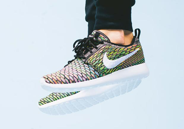 "Nike Women's Flyknit Roshe Run ""Multi Color"" Available"