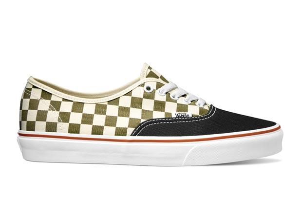 vans golden coast checkerboard slip on