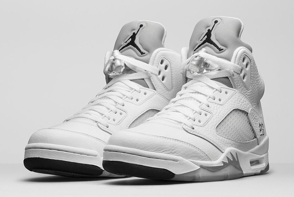 premium selection be225 0dabe Jordan 5 White Metallic April 4th Release | SneakerNews.com