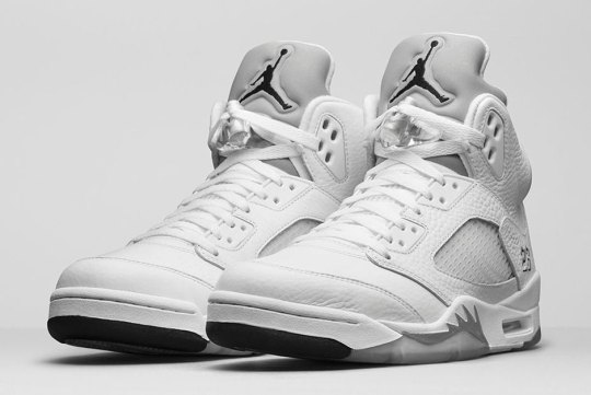 "The Air Jordan 5 ""White/Metallic"" Releases On April 4th on Nike.com"