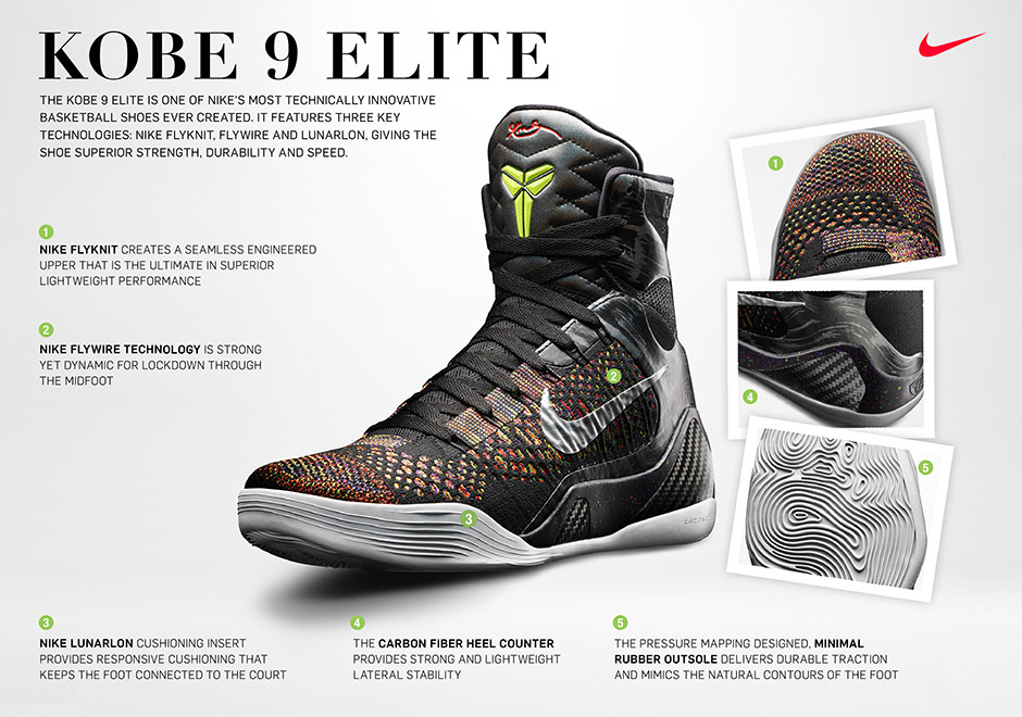 the best attitude 1fbca dce6d Not only is the Kobe 9 notable for its extremely high-top design, it also  debuted Flyknit in basketball. Another interesting tidbit about the Kobe 9  Elite ...