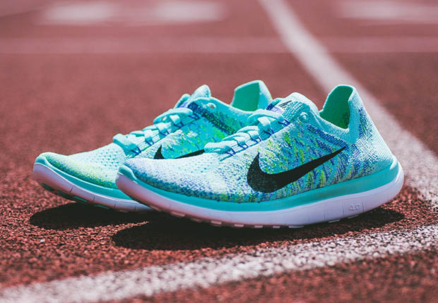 brand new a3ca3 12bec nike free flyknit 4.0 womens blue
