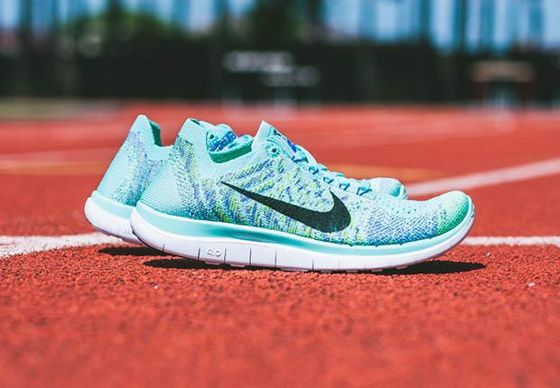 Femmes Nike Free 4.0 Flyknit Hyper Turquoise
