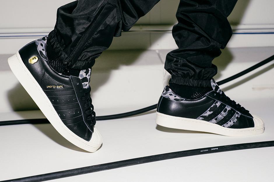 ead5fc5f8de An On-Feet Look at This Weekend s UNDFTD x BAPE adidas Superstar -  SneakerNews.com
