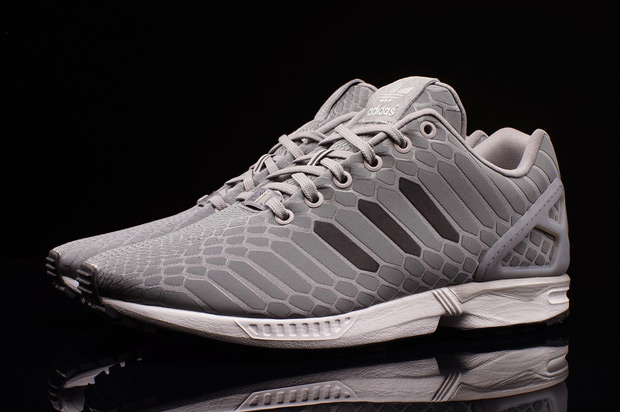 Mens Adidas ZX Flux Weave Grey/Grey/Camo AQ2872 Sizes: UK 8.5