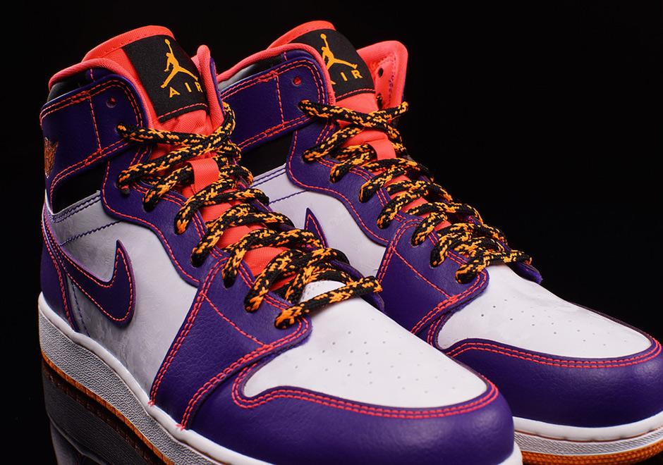 on sale 80ed5 6bb08 Air Jordan 1 High BG - Court Purple - Bright Crimson - Bright Citrus -  SneakerNews.com