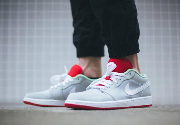 Nike Air Jordan 1 Lièvre Faible Sur Les Pieds