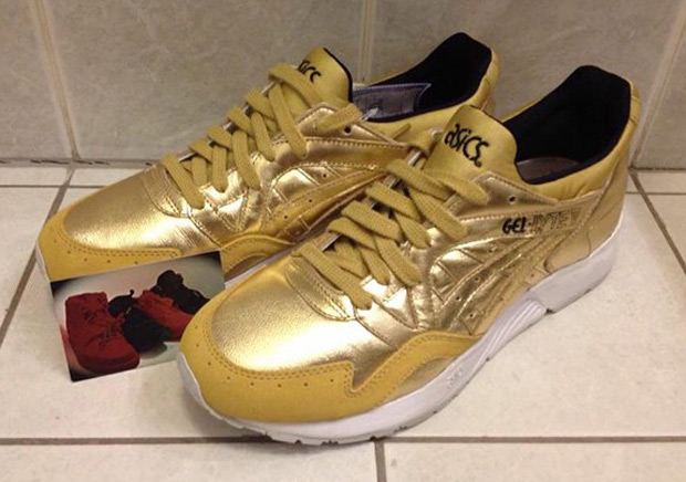 asics sneakers gold