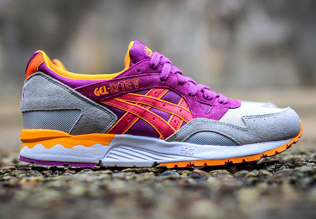 41a64fbbba71 Asics keeps the excellent color-ups in spring and summer palettes right on  coming with this next invigorating look for the Gel Lyte V. Quickly  becoming the ...