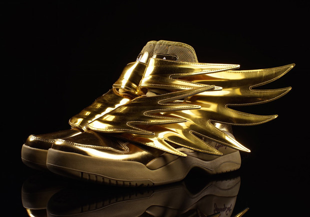 The Latest Jeremy Scott X Adidas Sneaker Strikes Gold Gov