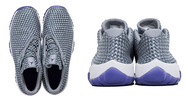 ... Wolf Grey with a contrasting white midsole and translucent purple  outsole beneath. Fresh 5bf7503bb446