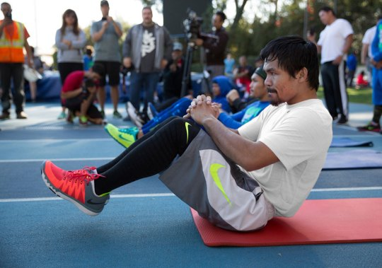 Prior To The Mayweather Fight, Nike Gives Us An Inside Look at Manny Pacquiao's Training