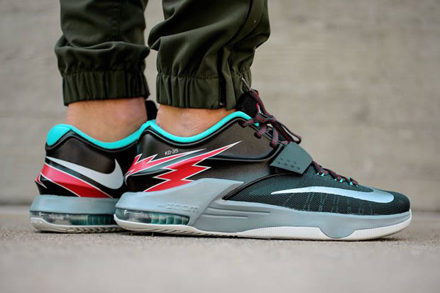 """e0f66d4032a6 Nike KD 7 """"Flight"""" Color  Classic Charcoal Dove Grey-Light Retro-University  Red Style Code  653996-005. Release Date  05 01 15. Price   150. Nike Kobe  10 """" ..."""