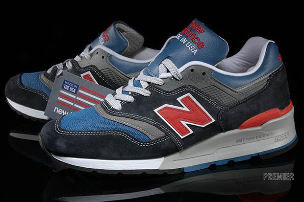 new balance 997 blue red