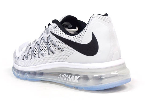 nike air max 2015 white and black