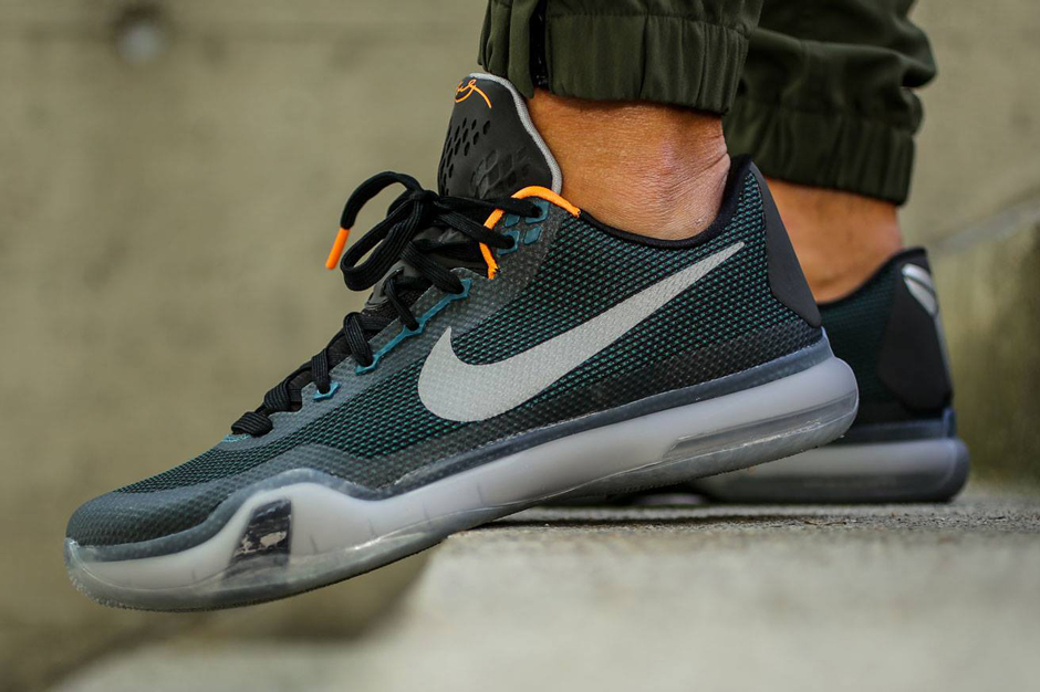 "0fc2f3caa325 Nike Kobe 10 ""Flight"" Color  Teal Black-Bright Citrus Style Code  705317-308.  Release Date  05 01 15. Price   180 Buy on eBay"
