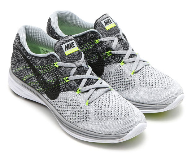 on sale d5734 04bc9 Nike Flyknit Lunar 3. Color  Wolf Grey Black-White-Volt Style Code   698181-009
