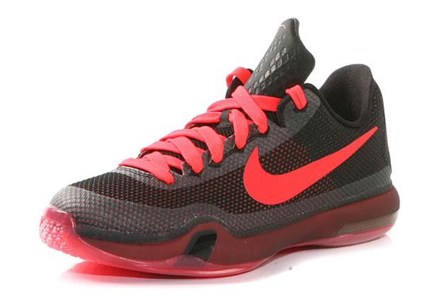 cheap for discount 112da 6d0f2 Nike Kobe 10 GS Black Bright Crimson Anthracite delicate
