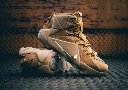 "This Weekend's Nike LeBron 12 ""Wheat"", In Detail"