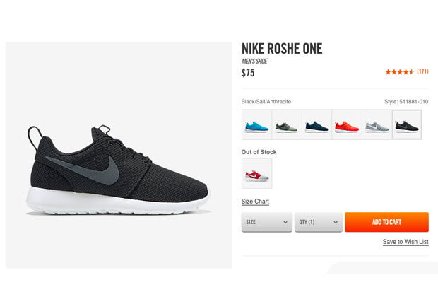 nike roshe run one