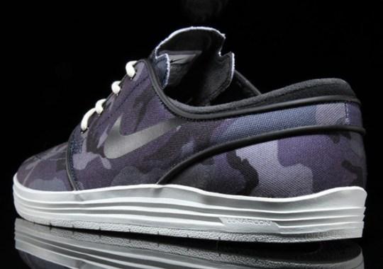 Blue Camo Hits The Nike Lunar Janoski
