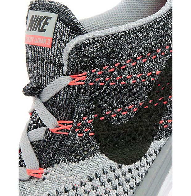 ba8ac112225 Nike Womens Flyknit Lunar 3 - Wolf Grey - White - Hot Lava ...