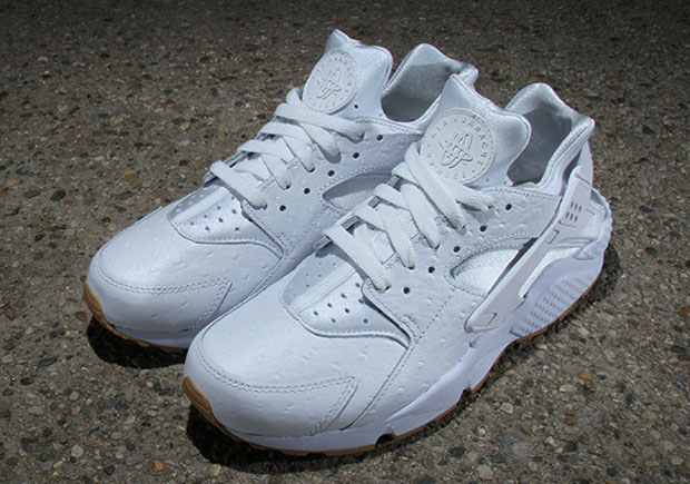 sneakers for cheap c26d0 ac3c7 Nike Air Huarache Upgraded With Ostrich Leather and Gum Soles