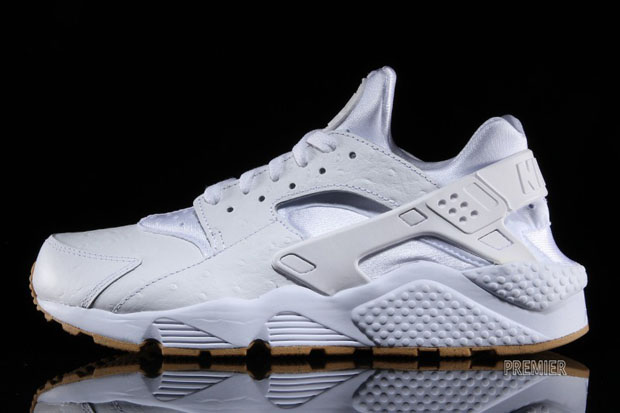 d0b71e94069f Nike Air Huarache Upgraded With Ostrich Leather and Gum Soles ...