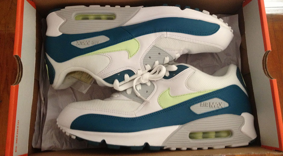 7b26e1038b ... Air Max 90 Lunar; it released around the time of Neil Armstrong's famous  walk on the moon and was accentuated with 3-d like lunar graphics and  patriotic ...
