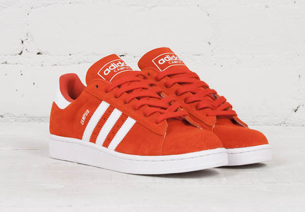 new style d3ed3 2af82 ... is finally cooling off, but this red suede Campus will never go out of  style. Pick up a pair now from select adidas Originals suppliers like  Proper.