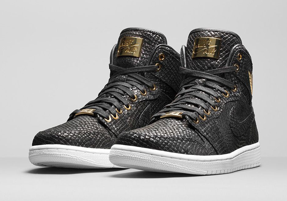 nike air jordan 1 pinnacle black metallic gold