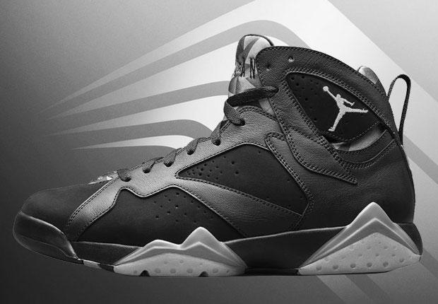 all black jordan 7s