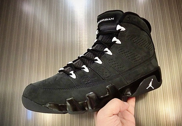 Air Jordan 9 Antracita Negro De Cola Blanca G85MS8ioVr