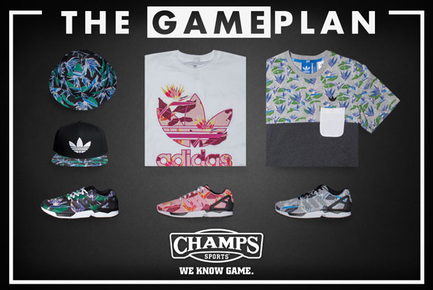 "0867136dd7d9 The Game Plan by Champs Sports  adidas ZX Flux ""Floral"" Collection"