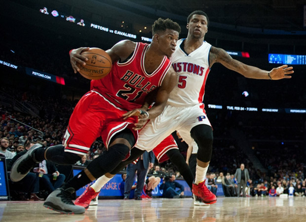 buy popular 75896 856ec Jimmy Butler Drops Adidas And A Huge Paycheck To Wear ...